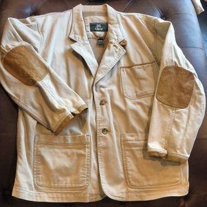 Men's XL Orvis Jacket.   Khaki Colored.  Leather